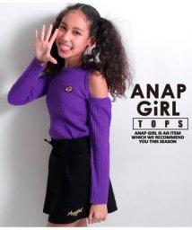 ANAP GiRL/オフショルダーリブニットトップス/501329803
