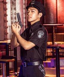 Dita/costume【コスチューム】メンズ ポリス(警官) 豪華7点セット(シャツ、パンツ、ネクタイ、ベルト、帽子、手錠※おもちゃ、拳銃※おもちゃ)/501329941