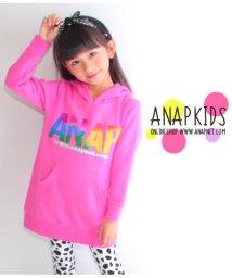 ANAP KIDS/グラデーションロゴフーディチュニック/501332947