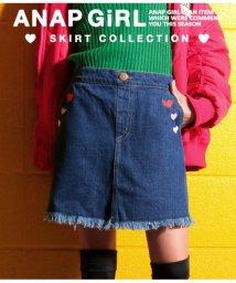 ANAP GiRL/ハート刺繍デニムスカート/501333997