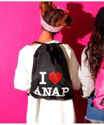 ANAP/I LOVE『ANAP』ロゴナイロンナップザック/501334116