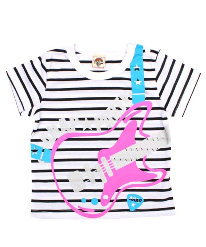 ベースプリントボーダーTシャツ