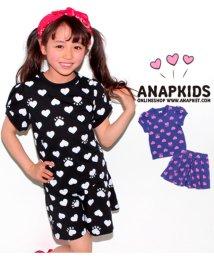 ANAP KIDS/ハート柄Tシャツ+キュロットSETUP/501336437