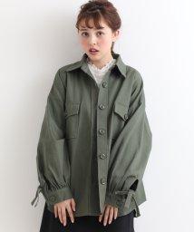 amelier MAJESTIC LEGON/袖リボンビッグシャツジャケット/500990386