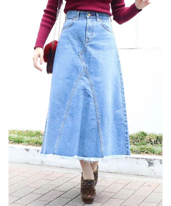 Lee×dazzlinヘムフリンジロングスカート