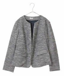 eur3/【大きいサイズ】ノーカラーデザインジャケット/501229937