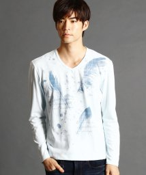 NICOLE CLUB FOR MEN/フェザープリントロングTシャツ/501292352
