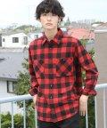 coen/ネルチェックワークシャツ/501295881