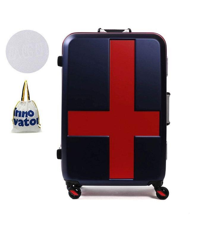 ギャレリア イノベーター スーツケース innovator キャリーケース フレーム 軽量 旅行 INV58T(60L 3〜5日 Mサイズ) ユニセックス ネイビー F 【GALLERIA】