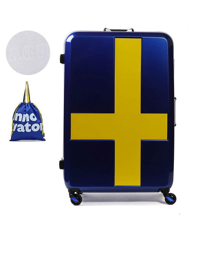 ギャレリア イノベーター スーツケース innovator キャリーケース フレーム 軽量 旅行 INV68T(90L 7〜10日 Lサイズ) ユニセックス ネイビー系1 F 【GALLERIA】