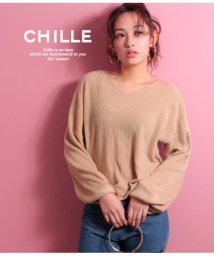 CHILLE/袖バルーンカシミヤタッチTOPS/501339600