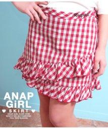 ANAP GiRL/ギンガムチェックフリルスカート/501340897