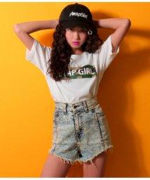 ANAP GiRL/迷彩BOXロゴTシャツ/501340914