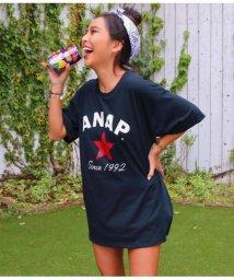 ANAP/ANAPロゴスタープリントTシャツ/501342171