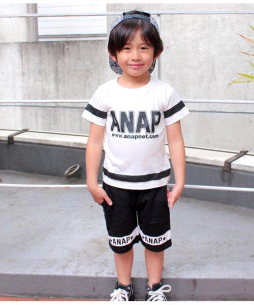 ANAP KIDS(アナップキッズ)/ラインデザイントップス+ハーフパンツSET-UP/0480300251