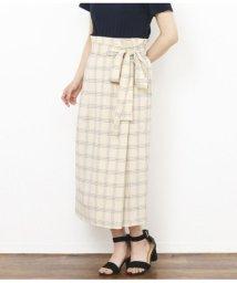 AULI/チェック柄ラップ風スカート/501343561