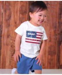 ANAP KIDS/国旗アップリケTシャツ/501344414