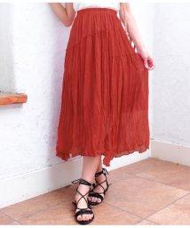 CHILLE/シワ加工切替デザインスカート/501344438