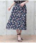 AULI/前釦花柄スカート/501344714