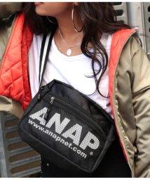 ANAP/『ANAP』ロゴラインボディーバッグ/501345778
