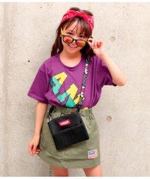 ANAP KIDS/斜ロゴ配色Tシャツ/501345806