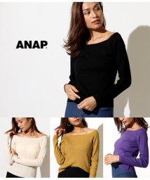 ANAP/リブボートネックニットトップス/501346359