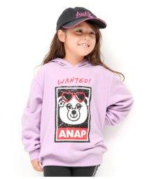 ANAP KIDS/WANTEDプリントフーディー/501346515