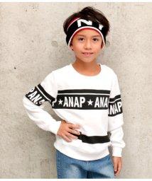 ANAP KIDS/ラインプリントトレーナー/501346516