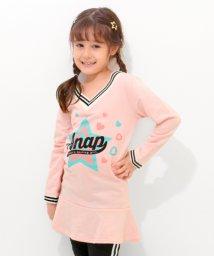 ANAP KIDS/ラインリブ裾フレアワンピース/501346533