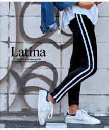 LATINA/サイドWラインベロアレギンス/501346746
