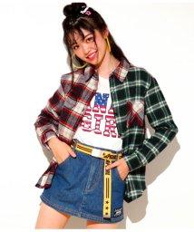 ANAP GiRL/クレイジーチェックシャツ/501346818
