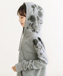 HAPPY EXP/裏起毛フラワーフード付きマキシワンピ/501347637