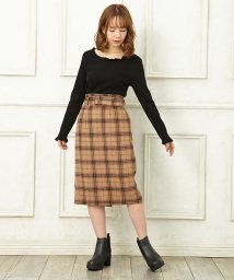 INGNI/【CanCam11月号掲載】シャギーチェックナロースカート/501266446