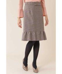 NATURAL BEAUTY/◆グレンチェックペプラムスカート/501304886