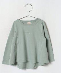 petit main/チビロゴフレアTシャツ/501307622