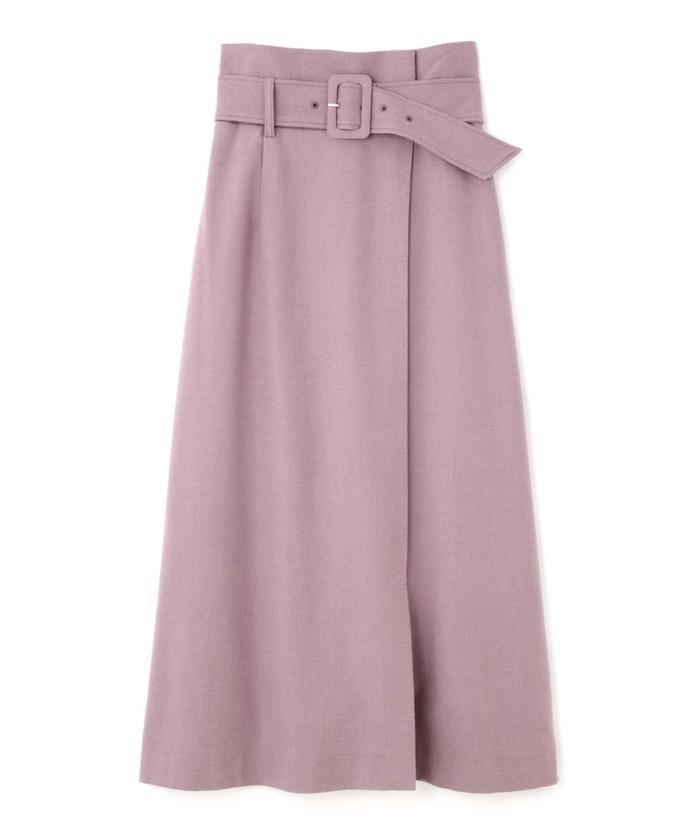 【PROPORTION BODY DRESSING】ハイウエストラップスカート