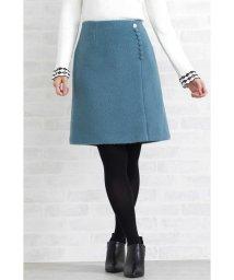 PROPORTION BODY DRESSING/ビジュー調釦シャギースカート/501340952