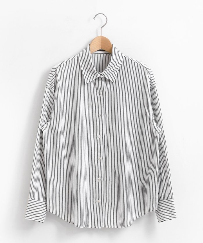 le.coeur blanc キモウコットンビッグシャツ