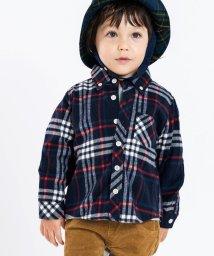 SHIPS KIDS/SHIPS KIDS:ネル チェック ボタンダウン シャツ(80~90cm)/501349134