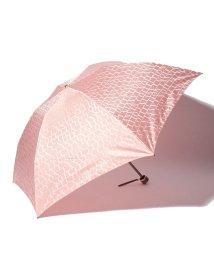 LANVIN Collection(umbrella)/婦人分解ミニP先染ロゴジャカード(折りたたみ傘)/501236794