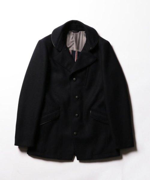 Stutostein(シュテットシュタイン)/カシミヤ混丸衿メルトンコート/8-0080-6-78-001