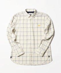 NOLLEY'S goodman/クジラ刺繍ボタンダウンネルシャツ/501311719