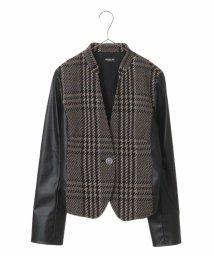 HIROKO BIS/ジャガードツィードプリントジャケット/501350425