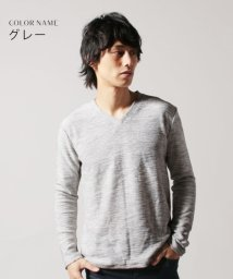 THE CASUAL/(バイヤーズセレクト)Buyer's Select スラブインレイVネックカットソー/501350885