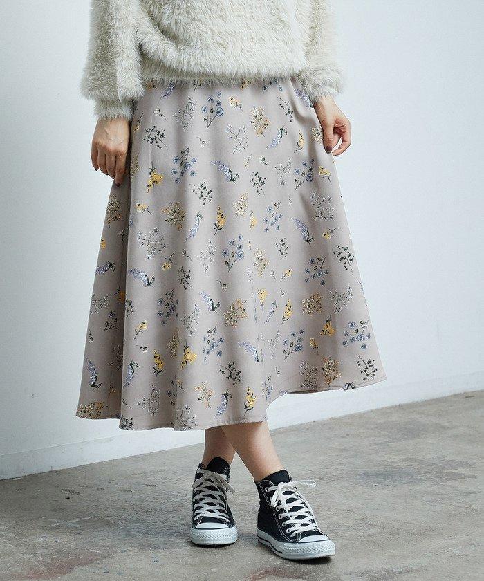 ROPE' PICNIC フラワープリントフレアスカート