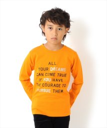 GLAZOS/メッセージロゴプリント厚手長袖Tシャツ[2色展開]/501351203