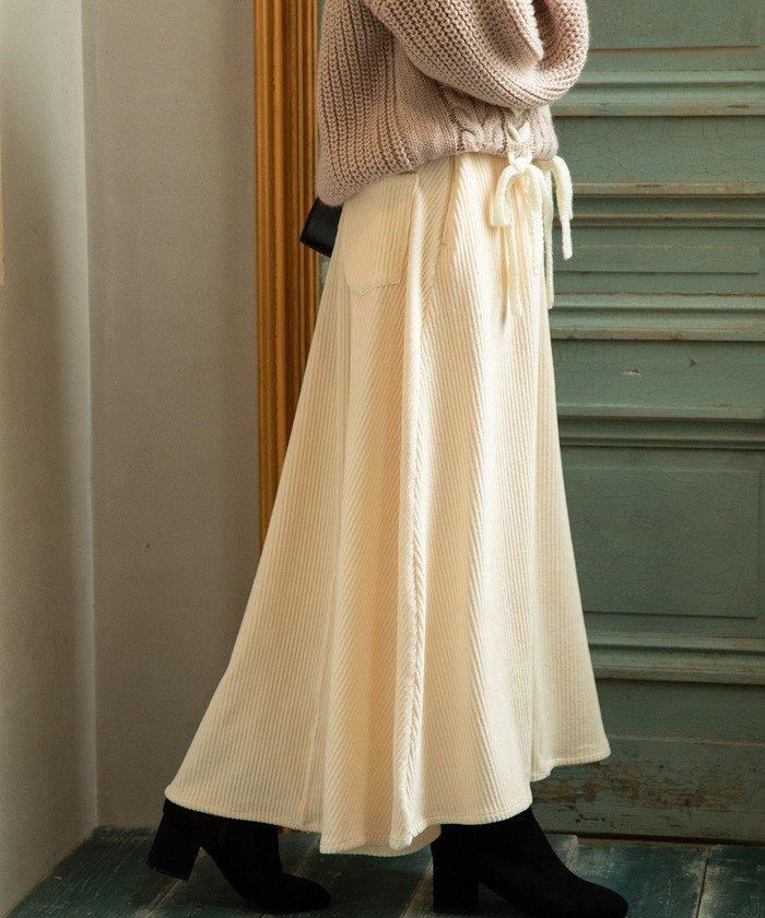 ViS カットソーコーデュロイフレアスカート