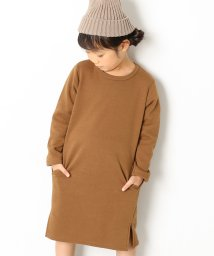devirock/【nina's11月号掲載】まるで着る毛布 裏シャギー膝丈スウェットワンピース 裏起毛/501352004