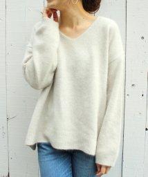 le.coeur blanc/チャイニーズラクーンVネックニット/501102927