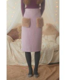 PROPORTION BODY DRESSING/《EDIT COLOGNE》ポケットフェイクファーミディースカート/501243887